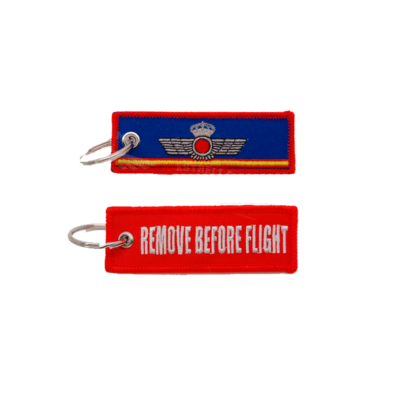 Imagen de Llavero Bordado Mini Roquisqui Remove Before Flight por Estrella Militar