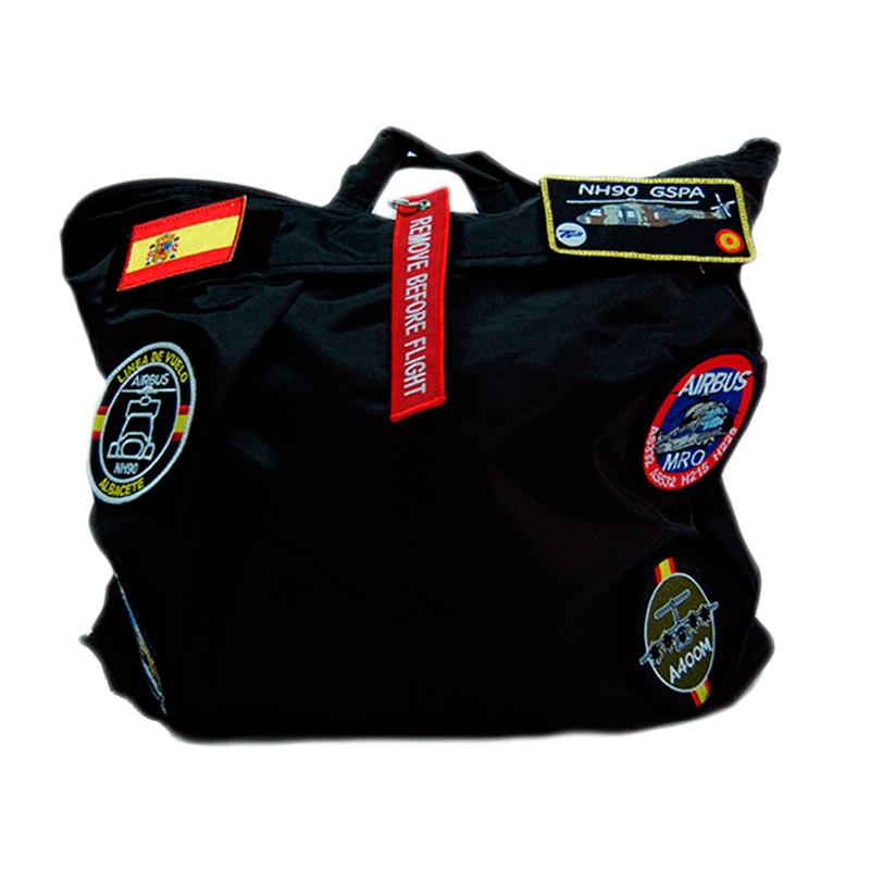Imagen de Bolsa de Piloto Negra por Estrella Militar