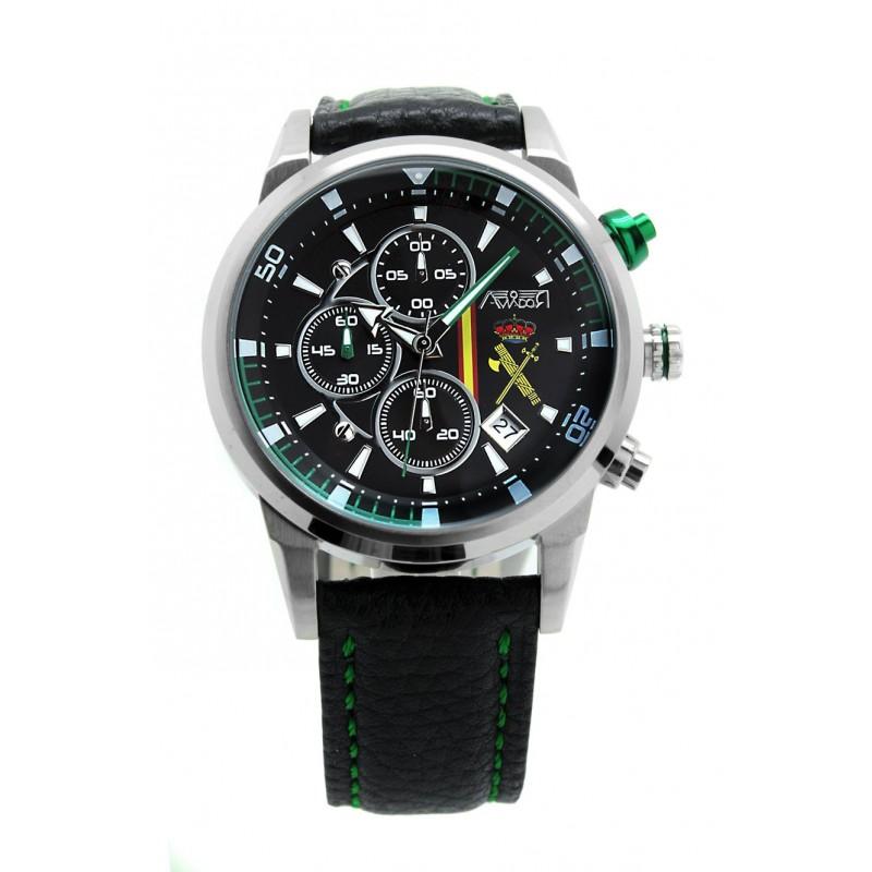 Imagen de Reloj Aviador Guardia Civil con Esfera Negra por Estrella Militar