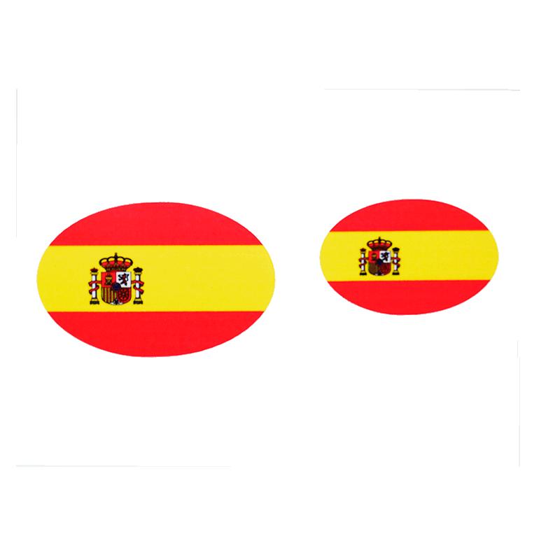 Imagen de Adhesivos Bandera de España Oval por Estrella Militar