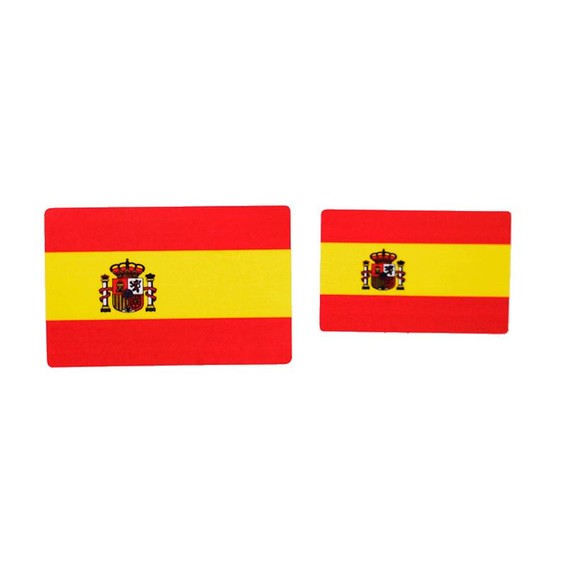 Imagen de Adhesivos Bandera de España Rectangular por Estrella Militar