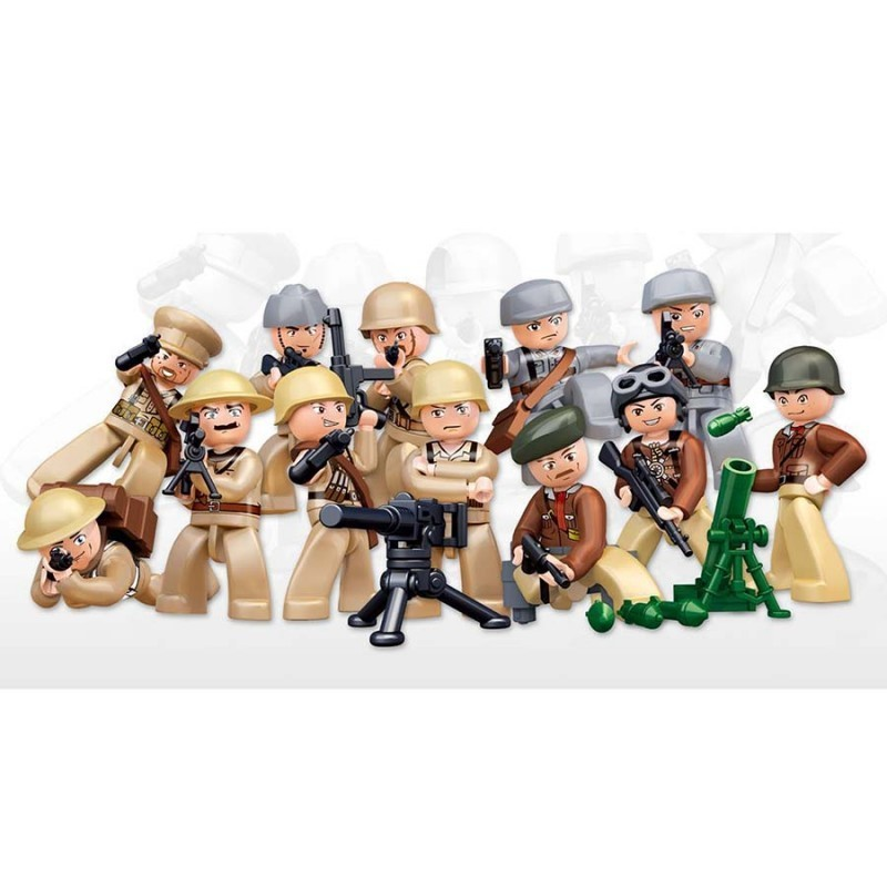 Imagen de Sluban Minifiguras WWII por Estrella Militar