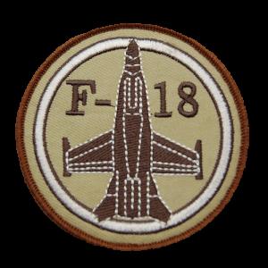 Parche bordado árido F-18
