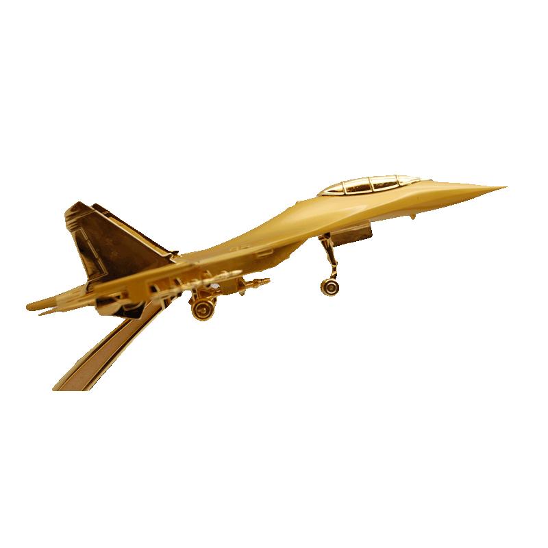 Imagen de Maqueta de avión de combate dorado por Estrella Militar