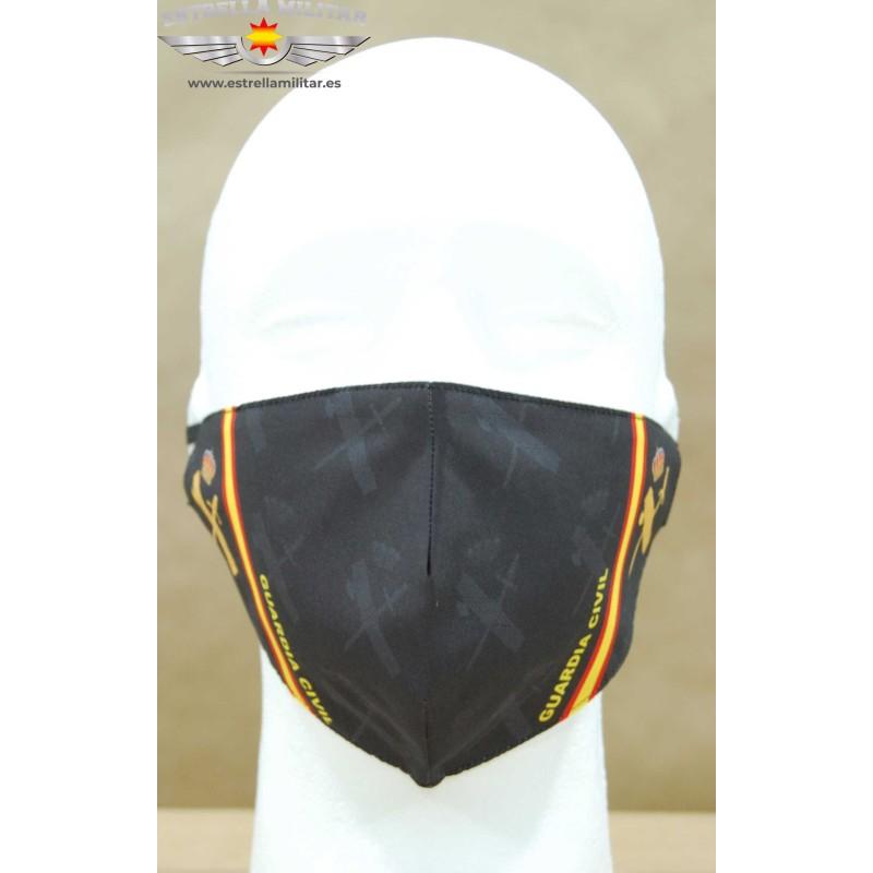 Imagen de Mascarilla facial Guardia Civil Negra por Estrella Militar