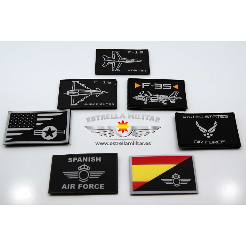 Imagen de Parche Nylon 3D F-18 Hornet por Estrella Militar