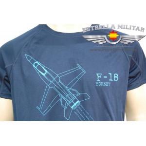 Camiseta técnica F-18 Marino