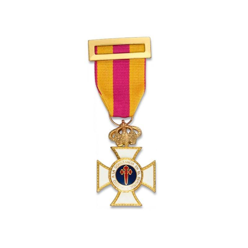 Imagen de Cruz a la constancia en el servicio ORO por Estrella Militar