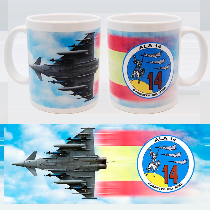 Imagen de Taza con bandera Eurofighter del Ala 14 por Estrella Militar