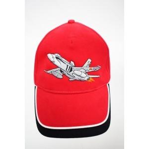Gorra Bordada F-18 Rojo /...
