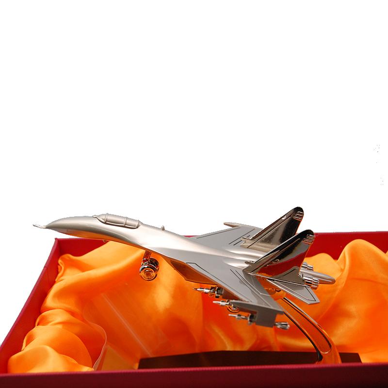 Imagen de Maqueta de avión de combate pequeño plateado por Estrella Militar