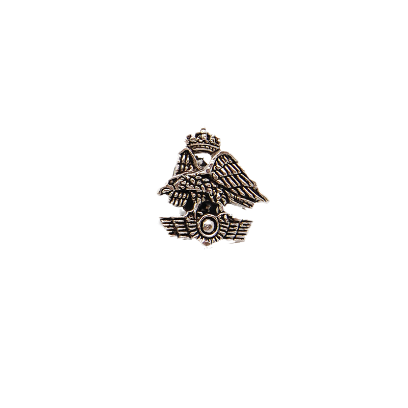 Imagen de Pin Escudo A.G.A. Plateado por Estrella Militar