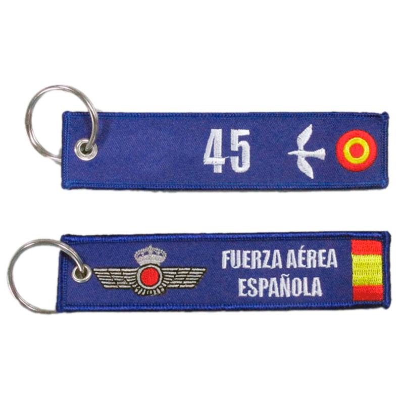 Imagen de Llavero bordado 45 grupo de Fuerzas Aereas por Estrella Militar