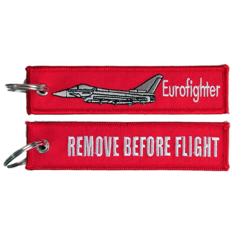 Imagen de Llavero Bordado Eurofighter Remove Before Flight Rojo por Estrella Militar