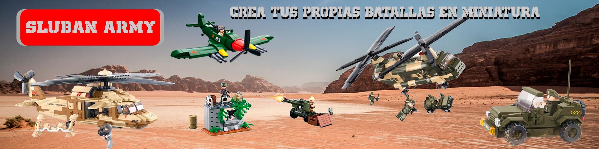 Imagen de juguetes sluban army - crea tus propias batallas en miniatura por Estrella militar